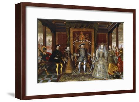An Allegory of the Tudor Succession: the Family of Henry VII--Framed Art Print