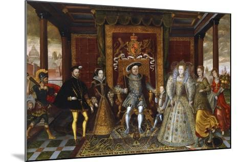 An Allegory of the Tudor Succession: the Family of Henry VII--Mounted Giclee Print