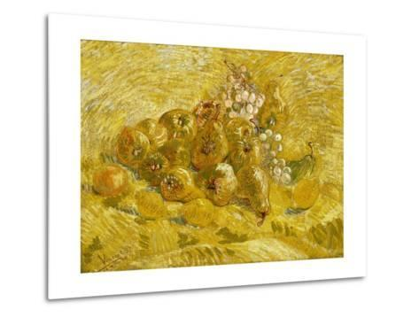 Quinces, Lemons, Pears and Grapes-Vincent van Gogh-Metal Print