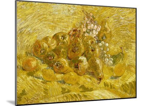 Quinces, Lemons, Pears and Grapes-Vincent van Gogh-Mounted Giclee Print