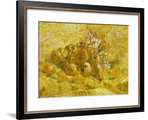 Quinces, Lemons, Pears and Grapes-Vincent van Gogh-Framed Art Print