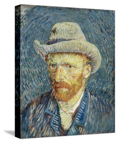 Self-Portrait with Grey Felt Hat-Vincent van Gogh-Stretched Canvas Print