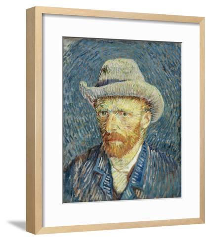 Self-Portrait with Grey Felt Hat-Vincent van Gogh-Framed Art Print