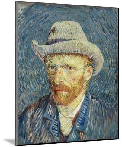 Self-Portrait with Grey Felt Hat-Vincent van Gogh-Mounted Giclee Print