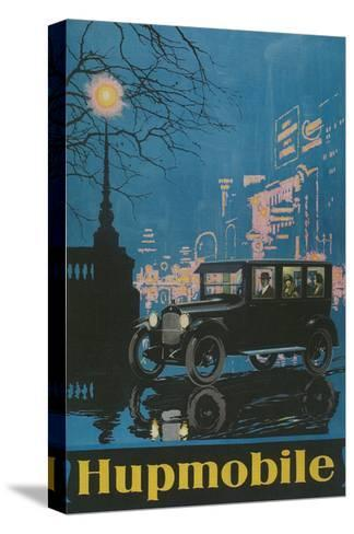 Vintage Hupmobile in City--Stretched Canvas Print