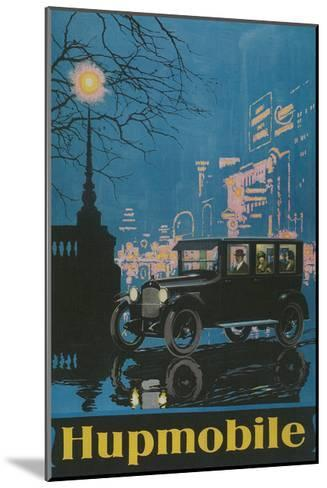 Vintage Hupmobile in City--Mounted Giclee Print