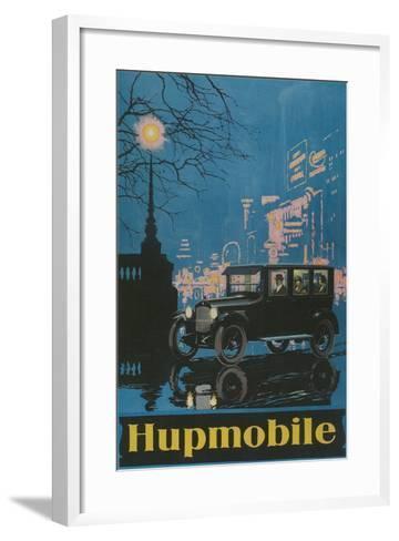 Vintage Hupmobile in City--Framed Art Print