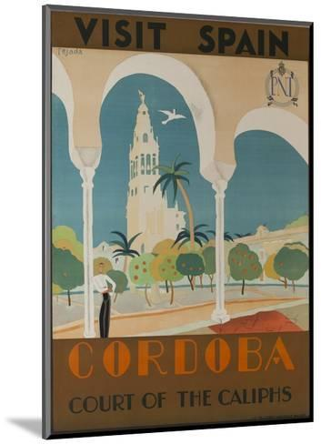 Visit Spain, Cordoba Court of the Caliphs Spanish Travel Poster--Mounted Giclee Print