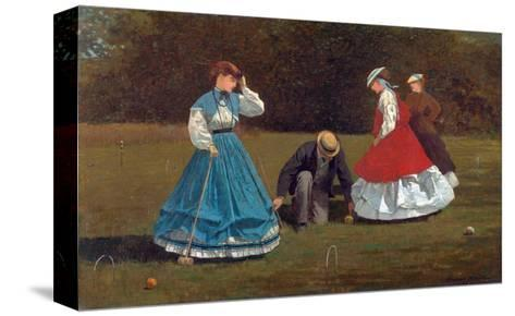 Croquet Scene-Winslow Homer-Stretched Canvas Print