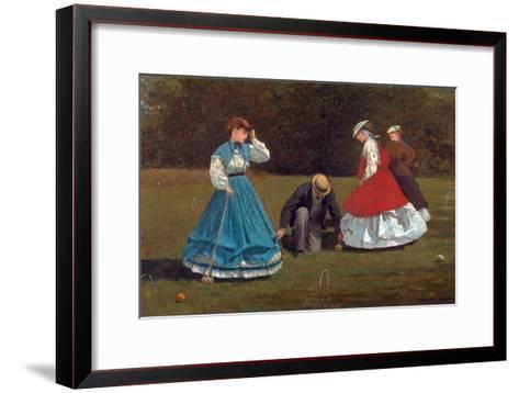 Croquet Scene-Winslow Homer-Framed Art Print