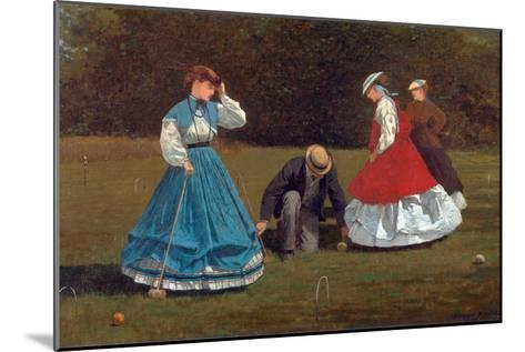 Croquet Scene-Winslow Homer-Mounted Giclee Print