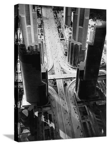Futurama City of 1960--Stretched Canvas Print
