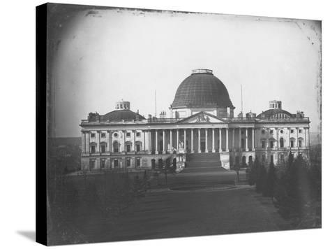 East Face of U. S. Capitol in 1846-John Plumbe Jr.-Stretched Canvas Print
