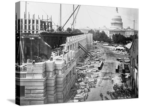 Library of Congress under Construction--Stretched Canvas Print