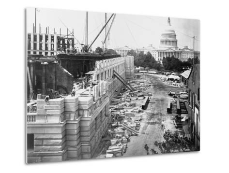 Library of Congress under Construction--Metal Print
