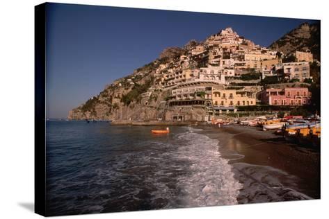 Beach in Positano, Italy-Vittoriano Rastelli-Stretched Canvas Print