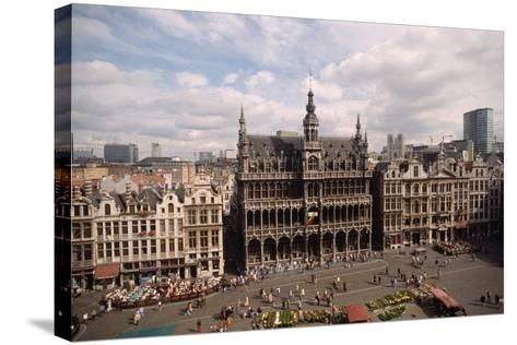The Grand' Place in Brussels-Vittoriano Rastelli-Stretched Canvas Print
