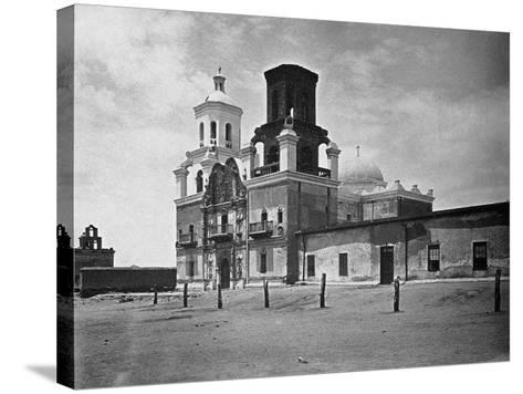 San Xavier Mission under a Clear Arizona Sky--Stretched Canvas Print
