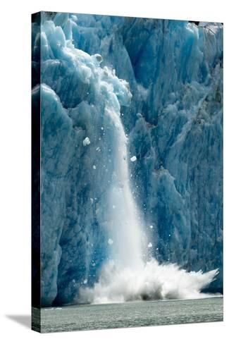 Icebergs Calving from Glacier, Alaska-Paul Souders-Stretched Canvas Print