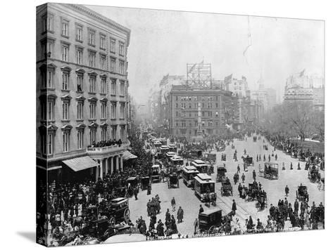 Broadway at Madison Square Park in New York City, 1893--Stretched Canvas Print