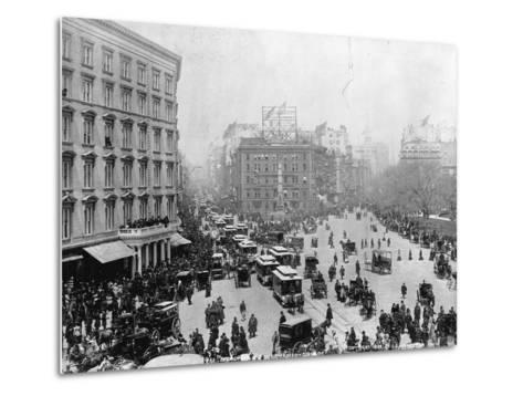 Broadway at Madison Square Park in New York City, 1893--Metal Print