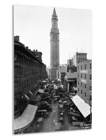 Custom House and Commercial Street--Metal Print