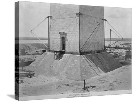 Strengthening the Foundation of Washington Monument--Stretched Canvas Print