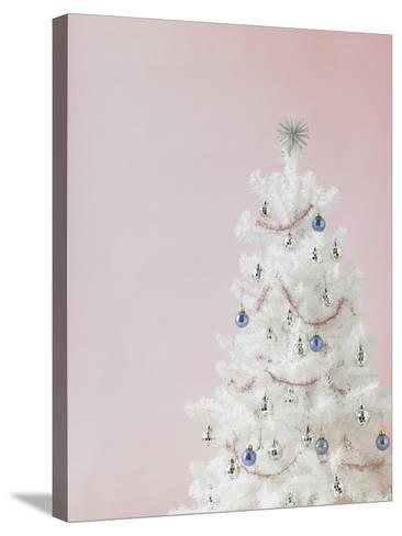 White Christmas Tree-Patrick Norman-Stretched Canvas Print