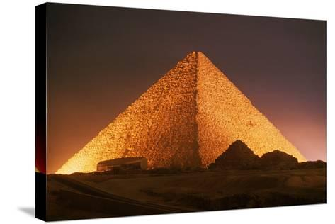 Pyramid of Cheops at Night-Roger Ressmeyer-Stretched Canvas Print