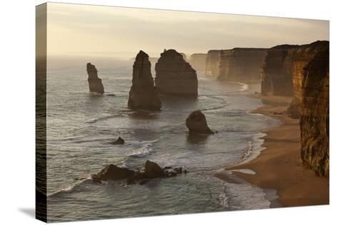 Twelve Apostles Sea Stacks in Australia-Paul Souders-Stretched Canvas Print