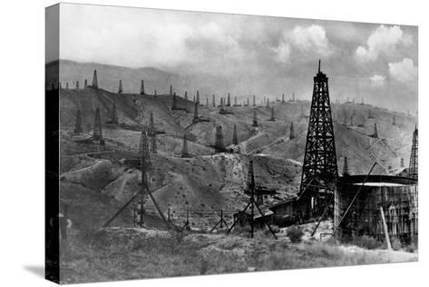 Oil Rigs Near Taft, California--Stretched Canvas Print