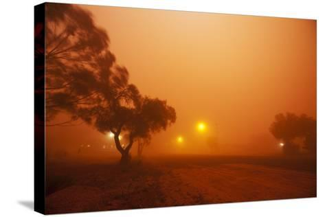Dust Storm in the Australian Outback-Paul Souders-Stretched Canvas Print