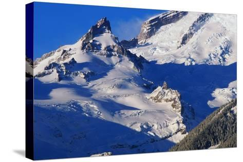 Pinnacle and Glacier on Mount Rainier-Paul Souders-Stretched Canvas Print