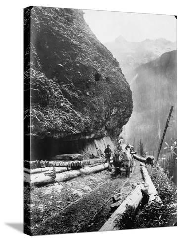 Gold Miners Near Ouray, Colorado--Stretched Canvas Print