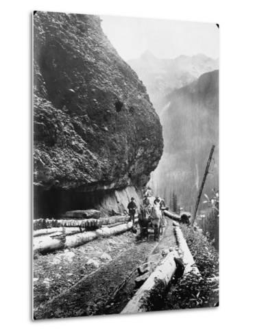 Gold Miners Near Ouray, Colorado--Metal Print