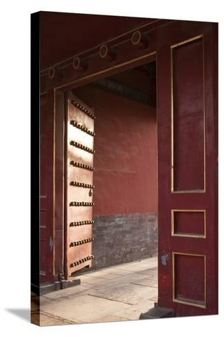 Open Gates at the Forbidden City-Paul Souders-Stretched Canvas Print