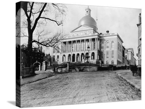 Massachusetts State House-N.L. Stebbins-Stretched Canvas Print