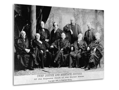 Portrait of the 1890 Supreme Court-Napoleon Sarony-Metal Print