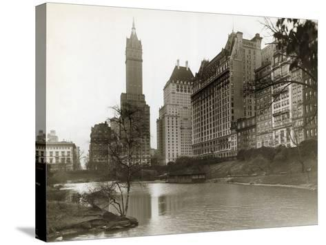 Plaza Hotel as Seen from Central Park--Stretched Canvas Print