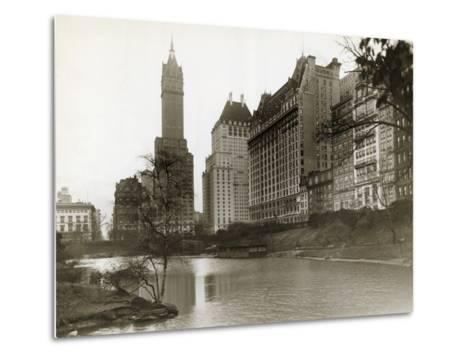 Plaza Hotel as Seen from Central Park--Metal Print