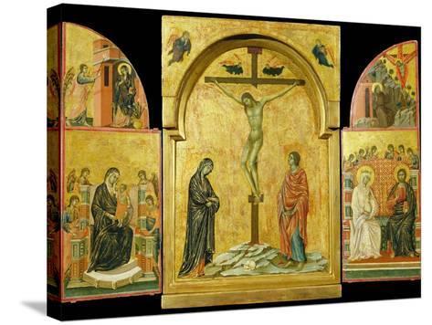 Crucifixion Altarpiece-Duccio di Buoninsegna-Stretched Canvas Print