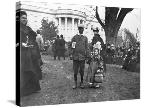 Children Holding Hands at White House Easter Egg Roll-Frances Benjamin Johnston-Stretched Canvas Print