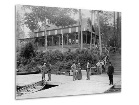 Boaters at Lake Lodge-Seneca Ray Stoddard-Metal Print