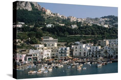 Capri Harbor-Vittoriano Rastelli-Stretched Canvas Print