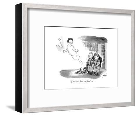 """If you can't beat 'em, join 'em."" - New Yorker Cartoon-Tom Toro-Framed Art Print"