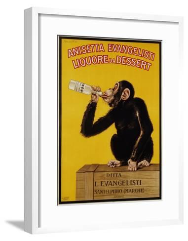 Anisetta Evangelisti Liquore Da Dessert Poster-Carlo Biscaretti Di Ruffia-Framed Art Print