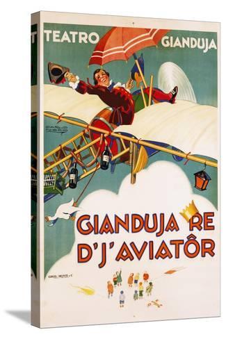 Gianduja Re D'J'Aviator Poster-Carlo Nicco-Stretched Canvas Print
