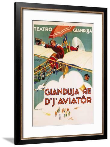 Gianduja Re D'J'Aviator Poster-Carlo Nicco-Framed Art Print