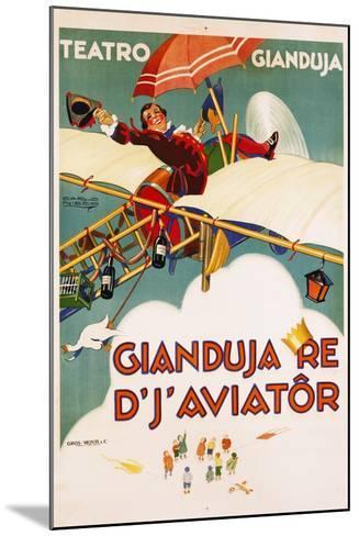Gianduja Re D'J'Aviator Poster-Carlo Nicco-Mounted Giclee Print