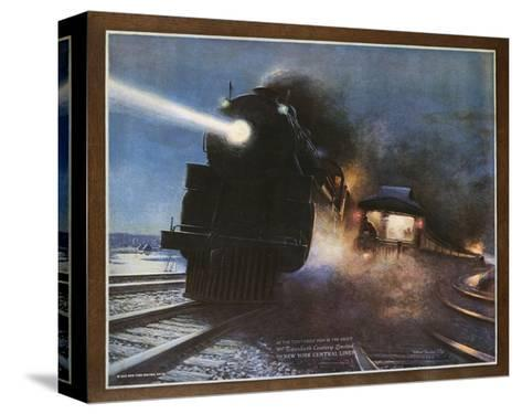 Pass in the Night, the Twentieth Century Limited of the New York Central Lines Poster-W.H. Foster-Stretched Canvas Print